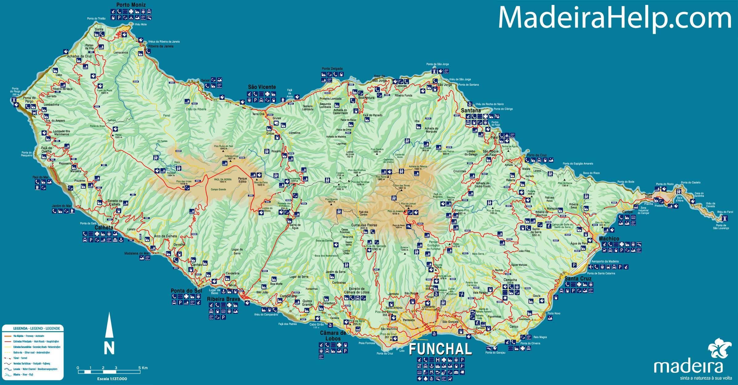 madeira karta Madeira Portugal karta   Karta över Portugal Madeira (Södra Europa  madeira karta