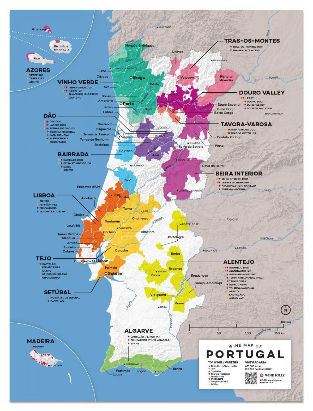Karta Europa Portugal.Portugal Vin Karta Vin Karta I Portugal Som For Sodra Europa